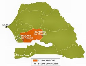 Map of SPRING Study Area in Senegal